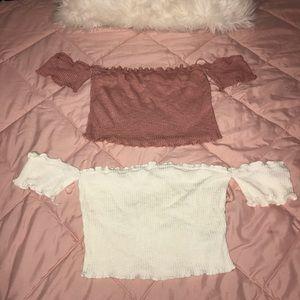 Pink & White Crop Top Bundle